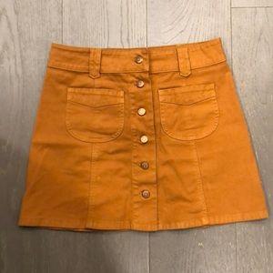 Madewell stretch denim camel size 4 skirt
